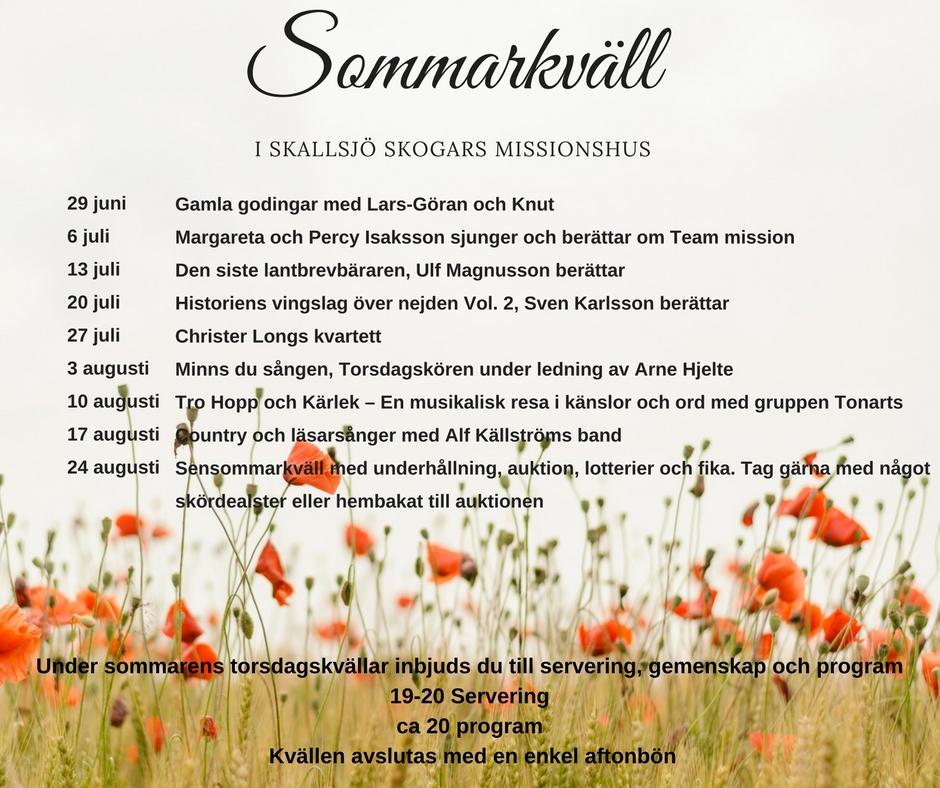 Sommarkvällar i Skallsjö Skogar